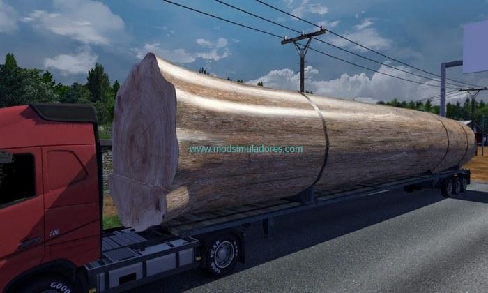 Carga Madeira Gigante Para ETS2