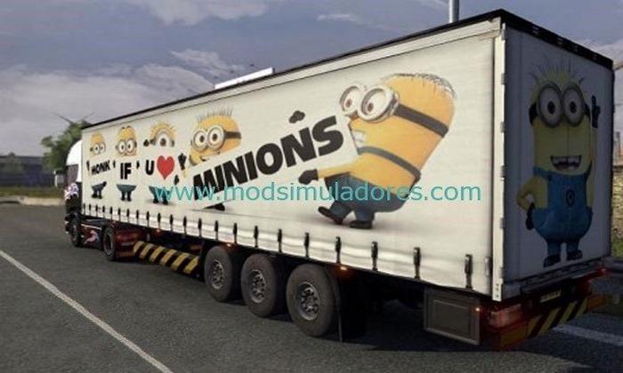 Reboque Os Minions Para ETS2