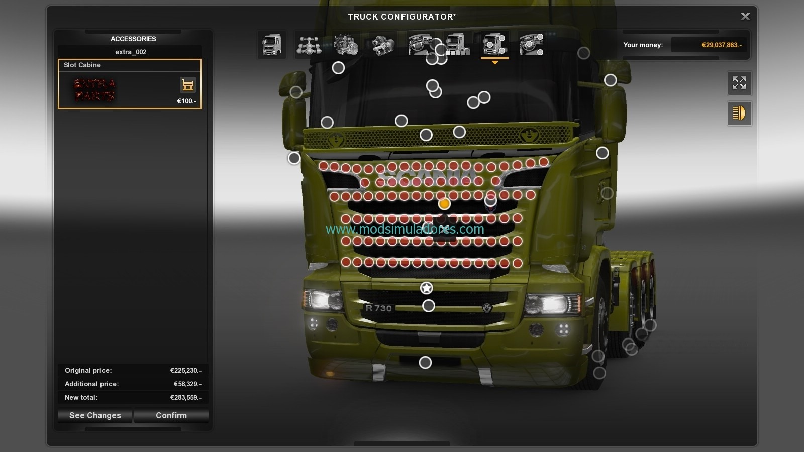 Mega Store Scania v1.3 Para ETS2