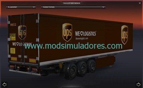 Pack Skin UPS Freightliner Coronado + Reboque Para ETS2