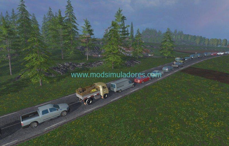 Tráfego v1.0 Para FS15 | Mod Simuladores ETS2 Mods Euro Truck ...
