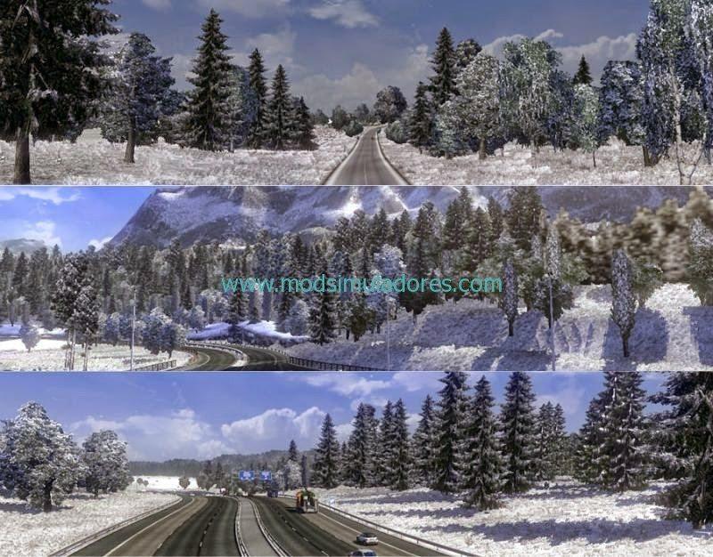 Início do Inverno + Tarde Gelado V.4.1 Para ETS2