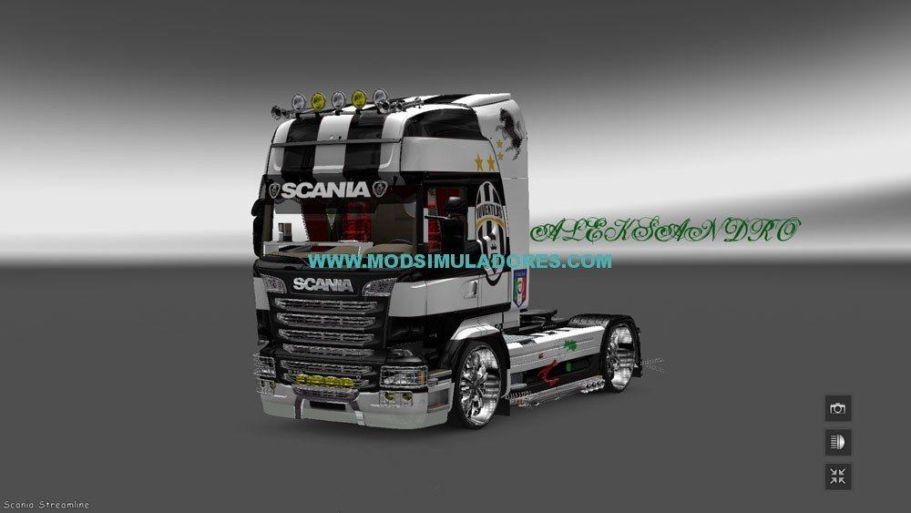 Skin Scania Streamline Juventus Para ETS2