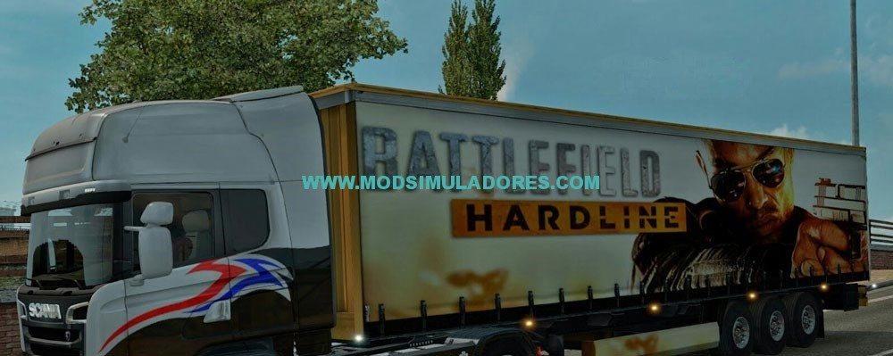 Skin Battlefield Hardline Reboque Para ETS2