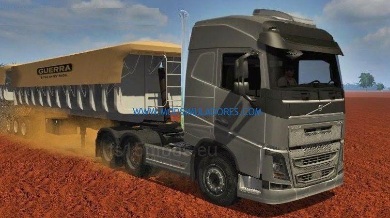 Caminhao Volvo FS16 2012 FW + Trailer V1 Para FS15