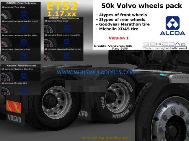 Pack de Rodas Para Volvo FH16 V.1.0 Para V.1.18.X - ETS2