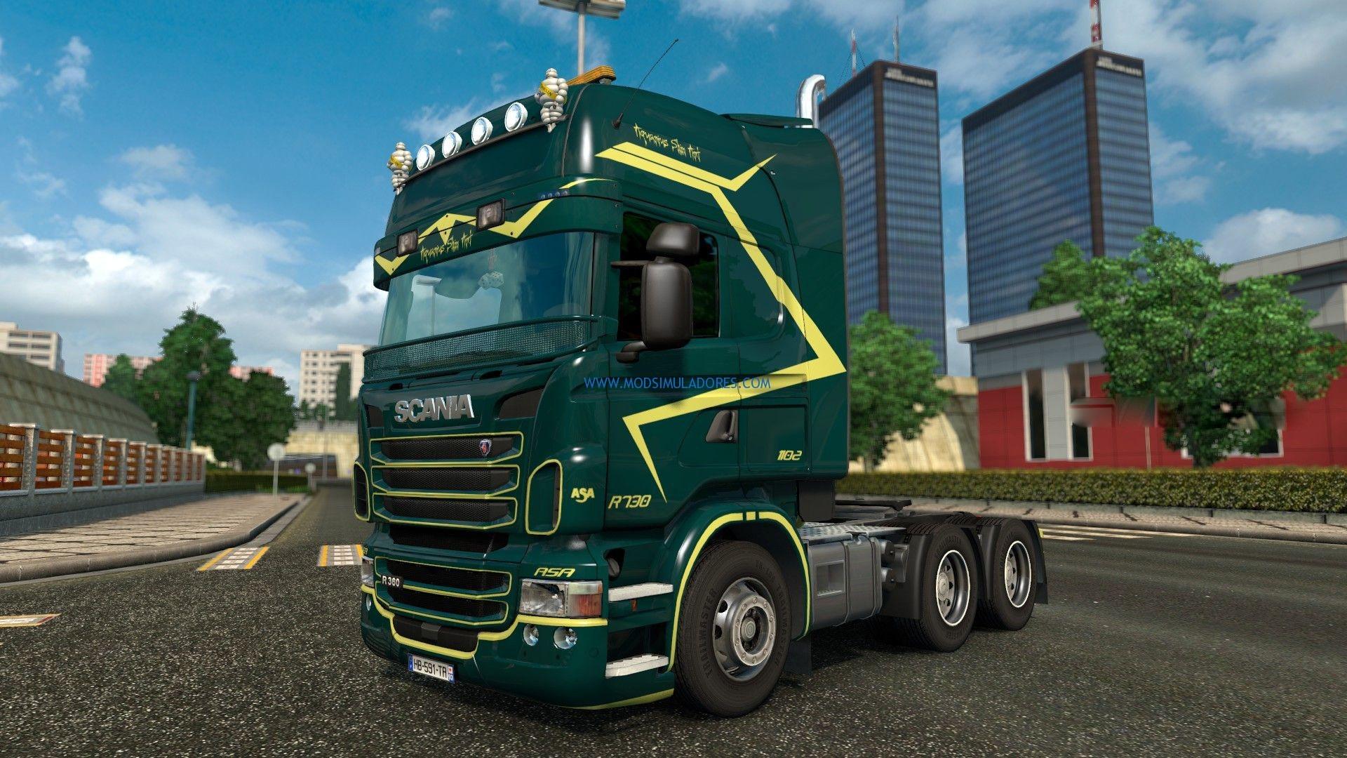 Skin Asa Team - Scania RJL Para ETS2
