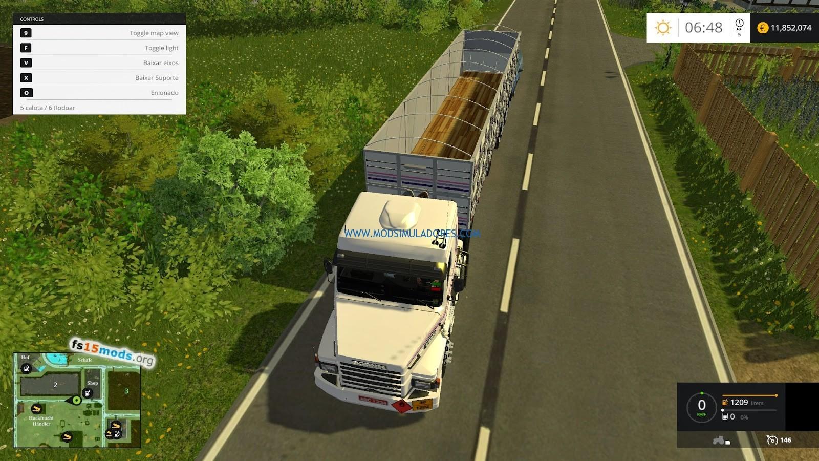 Scania 113H + Graneleira Para FS15