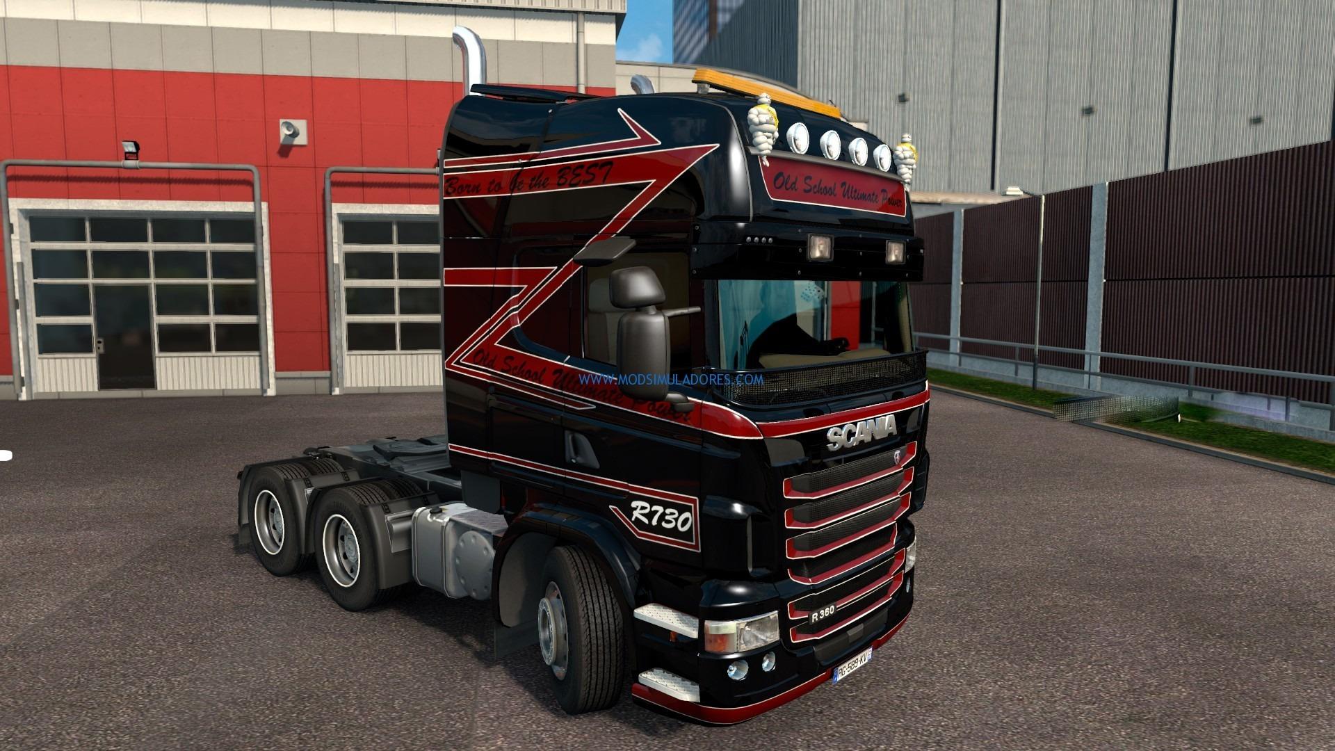 Skin Old School Scania RJL Para ETS2 Para ETS2