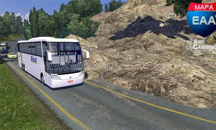 Mapa EAA Bus V1.2 Para 1.18.X - ETS2