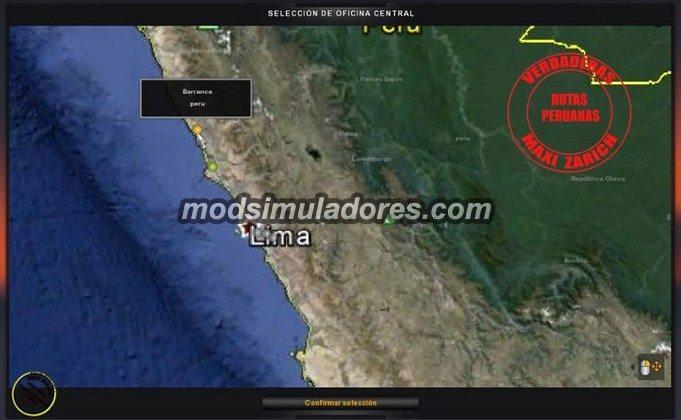 Mapa Peru V.1.0 Para V.1.19.X - ETS2