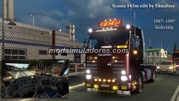 Caminhão Scania 143M 420 V.3.0 Para V.1.19.X - ETS2