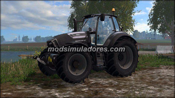 Trator Deutz Fahr 7250TTV Black Edition V3 Para FS15