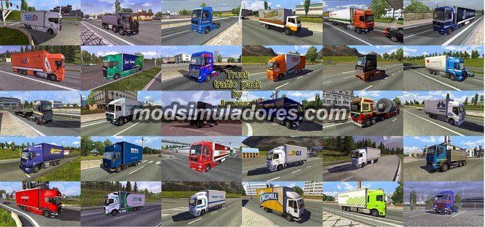 Pack de Caminhões Para o Tráfego V.1.8.2 Para V.1.19.X - ETS2