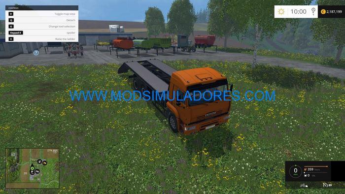 Caminhao Kamaz 45143 e Body Pack v1.0 Para FS15 | Mod Simuladores ETS2 ...