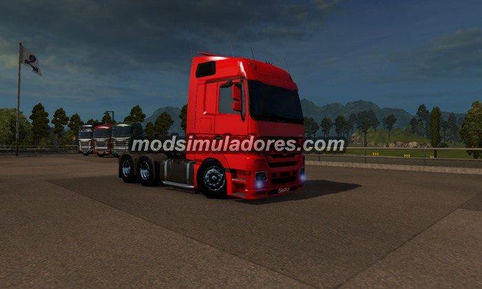 Caminhão MB Actros Rebaixado + Acessórios Para V.1.19.X - ETS2