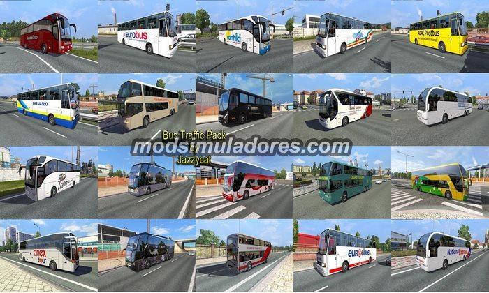 Pack de Ônibus Para o Tráfego V.1.2 Para V.1.19.X - ETS2