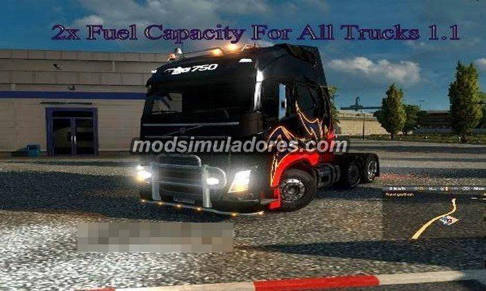Mod 2x Capacidade de Combustível V.1.1 Para V.1.19.X - ETS2