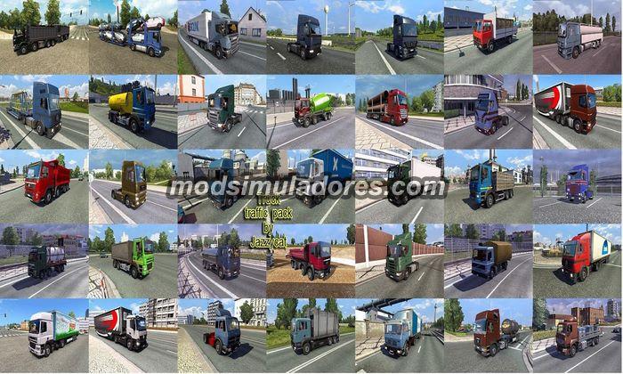 Pack de Caminhões Para o Tráfego V.1.2 Para V.1.21.X - ETS2