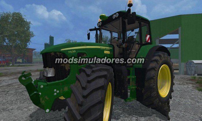 Trator John Deere 7530 Premium v 2.0 - FS15