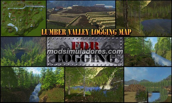 Mapa Lumber Valley Logging - FS15
