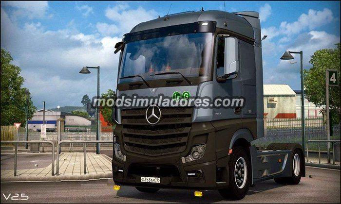 Caminhão MB Actros Mega Espaço V.2.5 Para V.1.21.X - ETS2