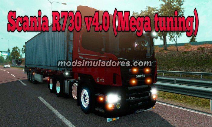 Caminhão Scania R730 V.4.0 Tuning Para V.1.21.X - ETS2