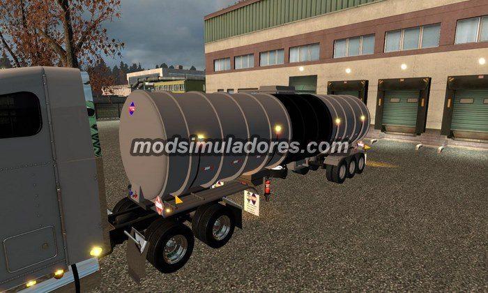 ETS2 Mod Reboque Cisterna Americano Para V.1.21.X