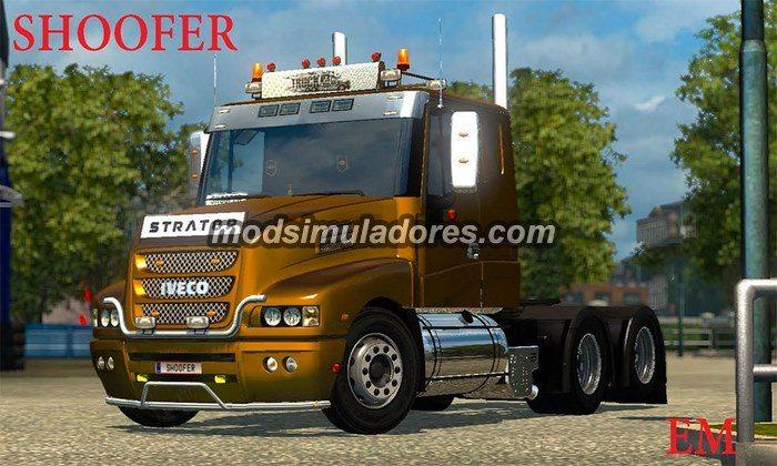 ETS2 Mod Caminhão Iveco Strator V.1.0 Para V.1.22.X