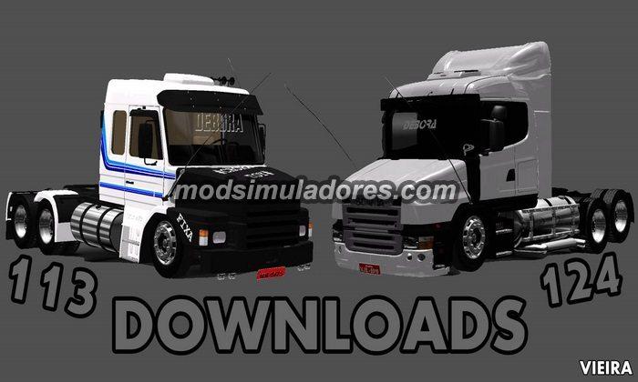 ETS2 Mod Caminhão Scania 113 e 124 Para V.1.22.X
