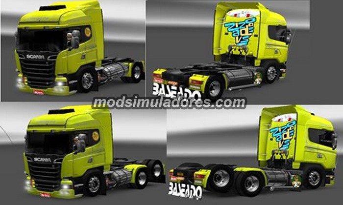 ETS2 Mod Caminhão Scania Streamline Edit V.1.0 Para V.1.22.X