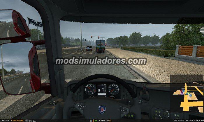 ETS2 Mod Alterações no Route e GPS Para V.1.22.X