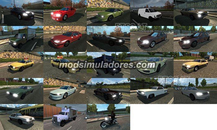 ETS2 Mod Pack Trafego GTA IV Final Para V.1.22.X
