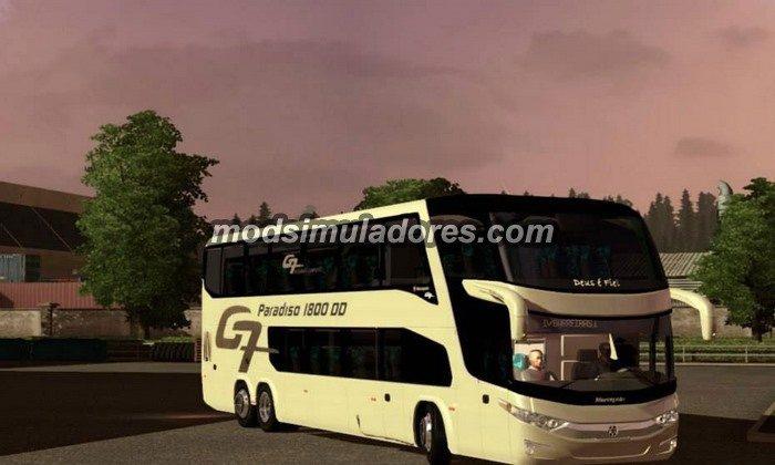 ETS2 Mod Ônibus Marcopolo Paradiso G7 1800 DD 6x2 Para V.1.22.X
