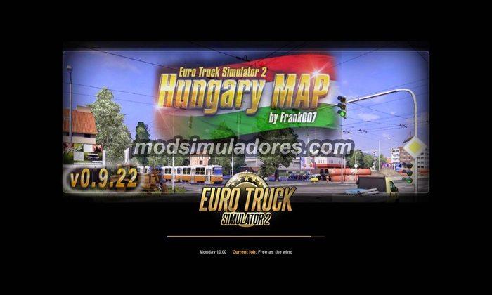 ETS2 Mod Mapa Hungria V.0.9.26 Para V.1.22.X