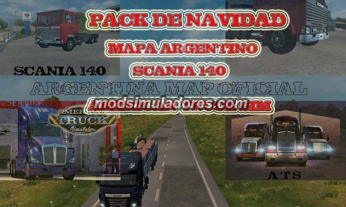 ETS2 Mod Mapa Argentina V.7.2.3 Beta Para V.1.22.X