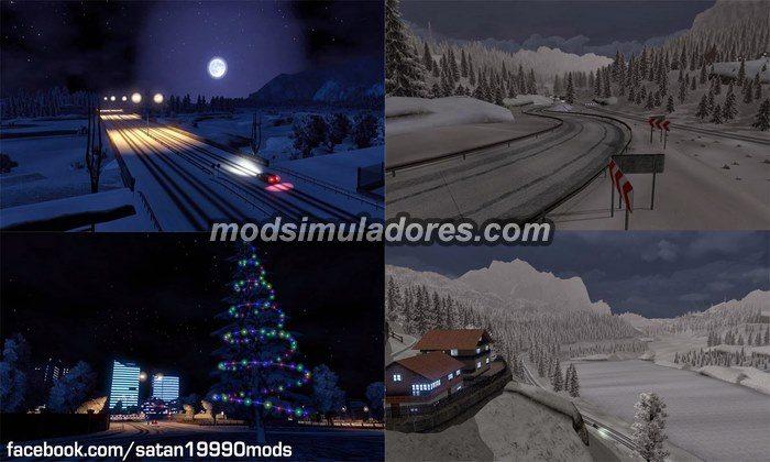 ETS2 Mod Inverno Completo (Neve) V.2.5.2 Para V.1.22.X