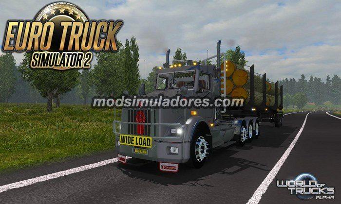 ETS2 Mod Caminhão Kenworth T800 V.2.1 Para V.1.22.X