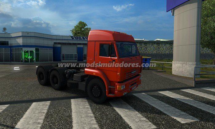 ETS2 Mod Caminhão Kamaz 6064 V.4.0 Para V.1.22.X