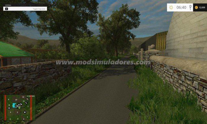FS15 Mod Mapa Brompton Farm v 1.0