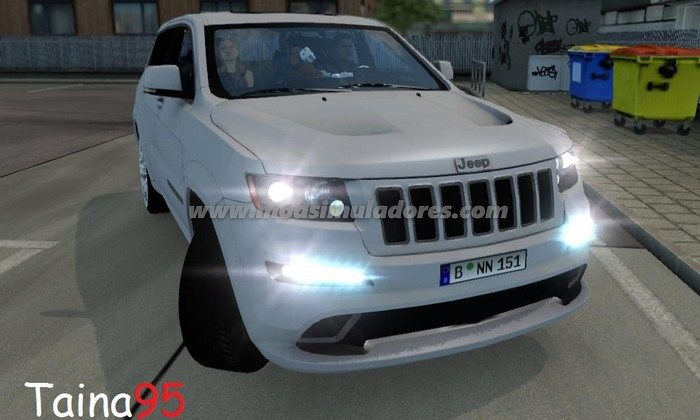 Carro Jeep Grand Cheeroke SRT8 V.1.0 Para V.1.23.X - ETS2