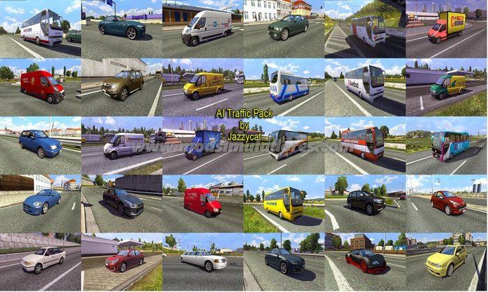 Pack de Carros Para o Tráfego V.3.6 Para V.1.23.X - ETS2