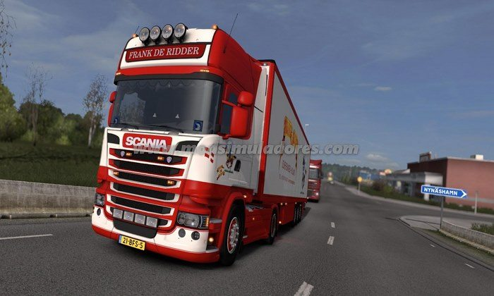 Caminhão Scania Frank de Ridder Para V.1.23.X - ETS2