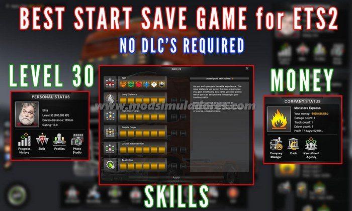 Save Game Com Dinheiro e Level 30 Para V.1.23.X - ETS2