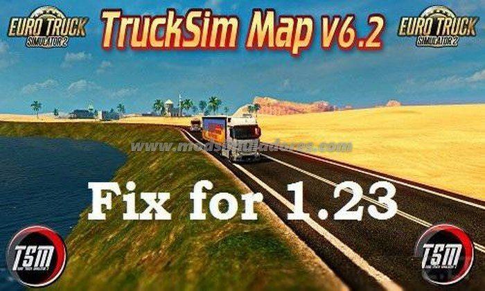 Mapa TruckSim Map (TSM) V.6.2 Para V.1.23.X