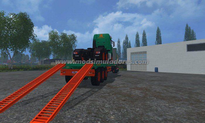Reboque Aguas Tenias Platform Truck V 1.0 - FS15