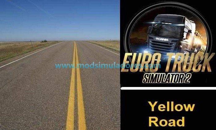 Linhas Amarelas nas Estradas Para V.1.24.X - ETS2