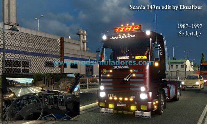 Caminhão Scania 143M 420 V.4.0 Para V.1.24.X - ETS2