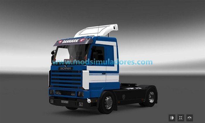 Caminhão Scania 143M + Reboque Para V.1.24.X