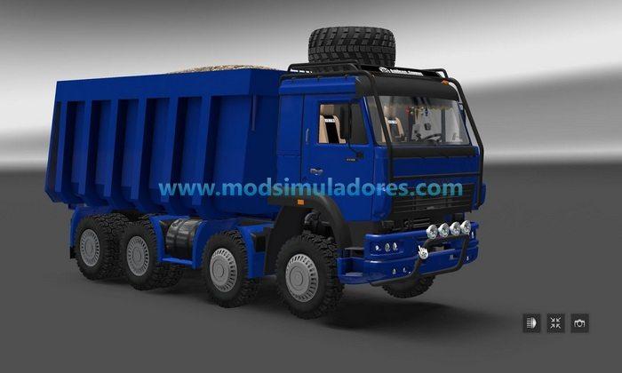 Caminhão Kamaz 6450 Caçamba 8x8 Para V.1.24.X - ETS2